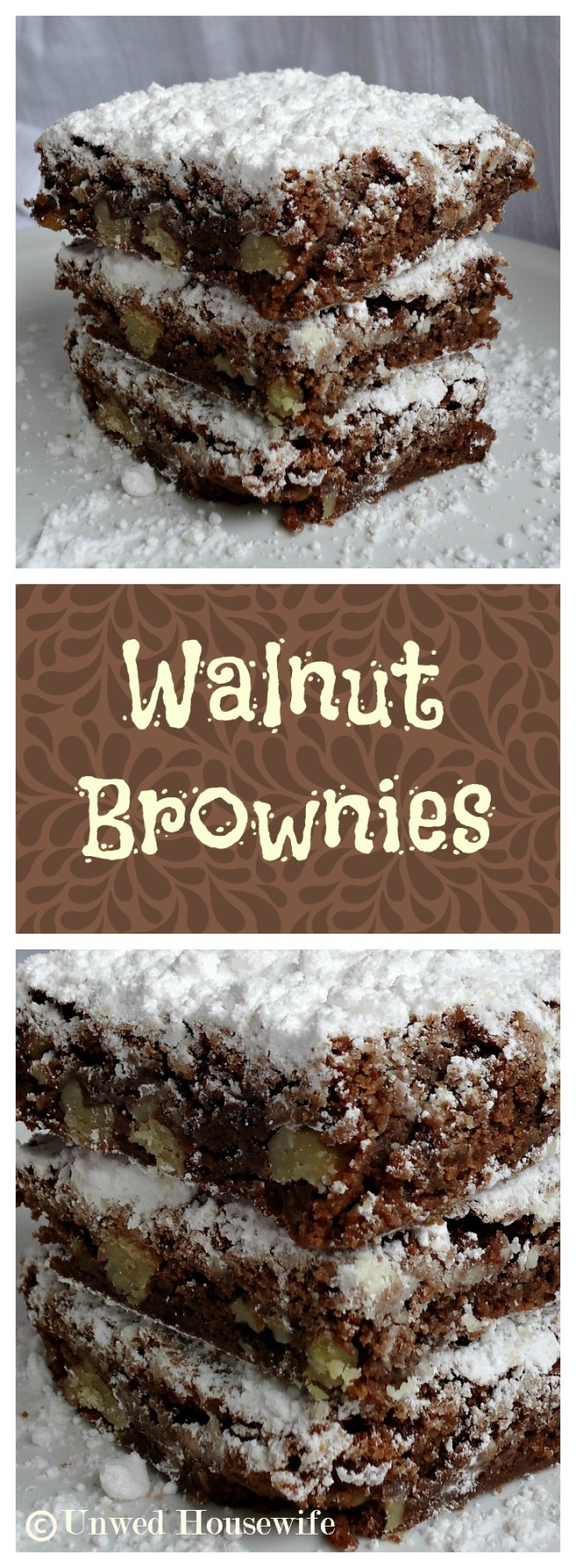 Walnut Brownies Pinterest