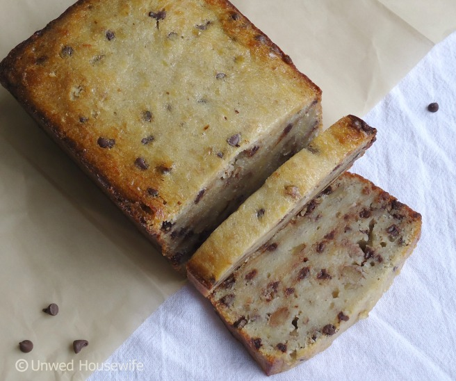 Chocolate Chip Banana Nut Bread - Unwed Housewife