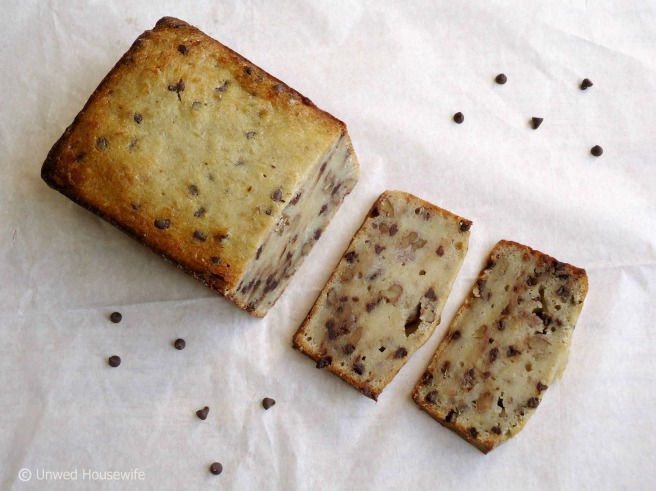 Chocolate Chip Banana Nut Bread -- Unwed Housewife