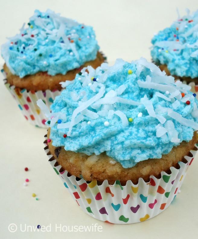 Coconut Funfetti Cupcakes 2