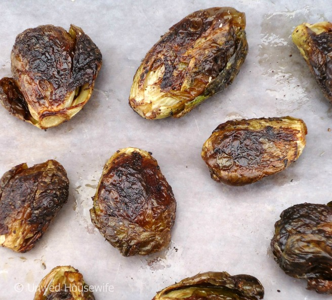 Roasted Brussels Sprouts - Unwed Housewife