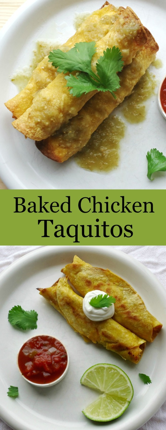Baked Chicken Taquitos -- Unwed Housewife