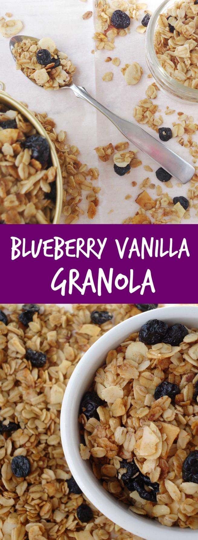 Blueberry Vanilla Granola  Unwed Housewife