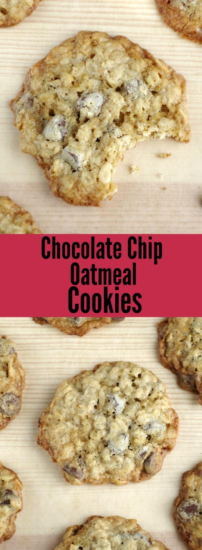 Chocolate Chip Oatmeal Cookies --- Unwed Housewife