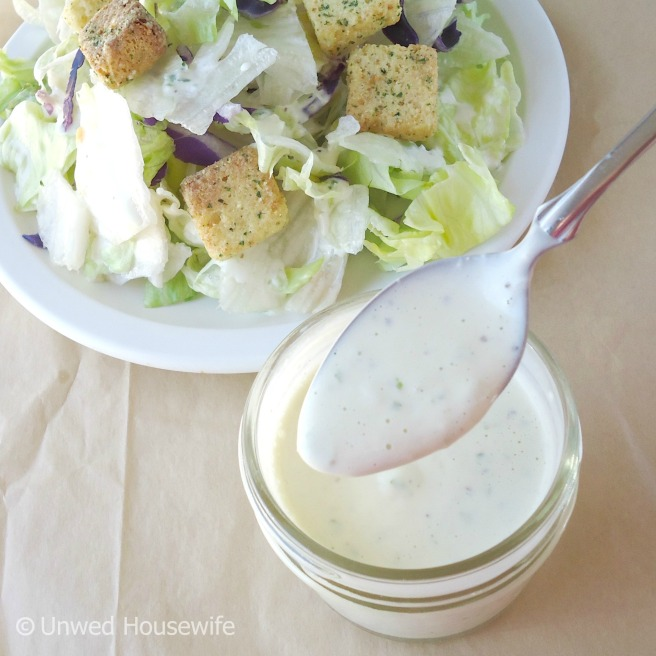 Creamy, homemade buttermilk ranch salad dressing. A simple and ...
