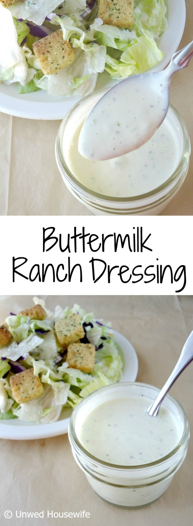 Creamy Buttermilk Ranch Dressing Recipe — Dishmaps