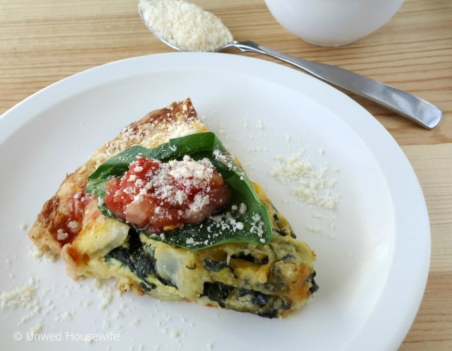 Vegetable Quiche | Unwed Housewife | A hearty, vegetarian quiche made with four types of vegetables and three cheeses. A delicious recipe perfect for breakfast, brunch, lunch (even dinner!).