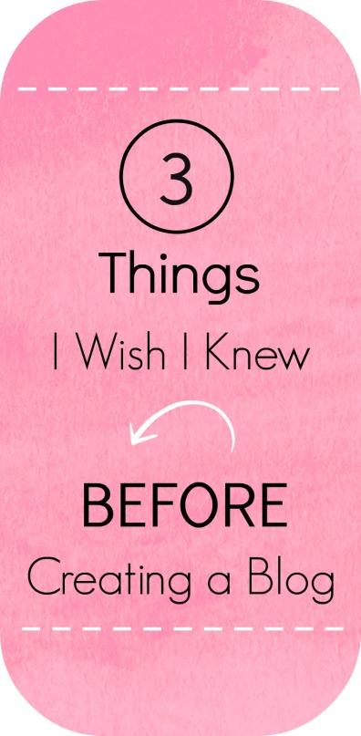 3 Things I Wish I Knew Before Creating a Blog | Unwed Housewife
